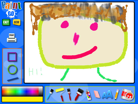 kids online paint and draw activity kids software